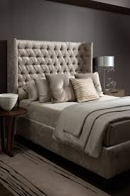 74 best headboard inspo images on pinterest bedroom ideas pewter bedroom with a grand tufted headboard
