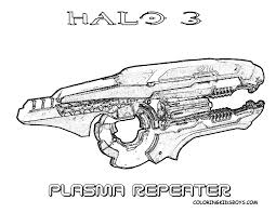 video game halo3 coloring pages plasma repeater weapon http