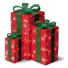 pre wrapped christmas boxes lighted christmas gift boxes wayfair