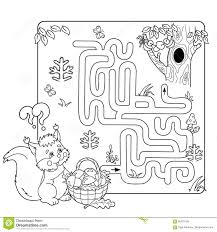 maze or labyrinth game for preschool children puzzle coloring