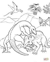 protoceratops fights coloring page free printable coloring pages