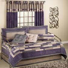 bedroom curtain and bedding sets bedroom multifunction bed design covered with purple bedding and