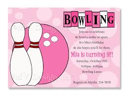 Birthday Party Cards Invitations Birthday Invitations Bowling Party Invitations Templates Ideas