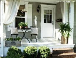 decoration fresh sunroom designs with outdoor curtain and bistro