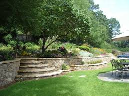 Atlanta Landscape Materials by Stone Wall In The Garden Dream Homes Plans