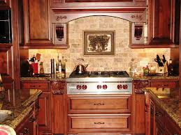 kitchen stone backsplash ideas with dark cabinets small kicthen