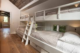 full over full bunk beds with stairs kids transitional with barn