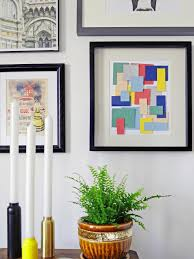 turn paint chips into geometric diy wall art hgtv