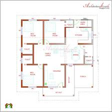 architecture kerala 3 bhk single floor house plan and traditional