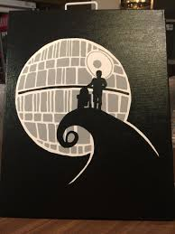Star Wars Office Decor Star Wars Nightmare I Painted On 16x20 Canvas Star Wars Canvas