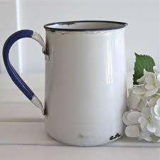 blue u0026 white enamel jug bayside vintage