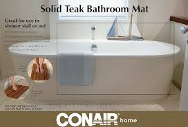 Bathroom Teak Furniture Amazon Com Conair Home Solid Teak Bathroom Mat Health U0026 Personal