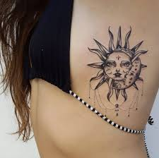 collection of 25 back shoulder moon and sun tattoos