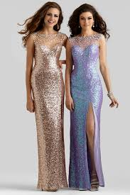 clarisse 2014 rose gold and princess purple sequin sheer back high