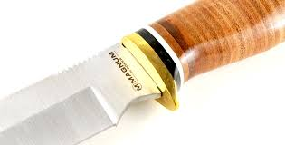 Kitchen Knives With Sheaths By Boker Duck Head Bowie Fixed Blade Knife With Leather Handle And