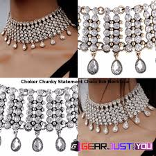 chunky chain pendant necklace images Gorgeous crystal chocker chunky chain pendant necklace gear just gif