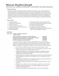 cover letter example profile resume sample profile resume
