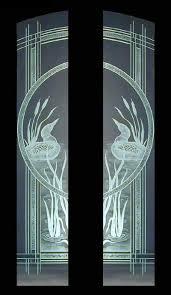 Glass Door Etching Designs by Etched Loons And Cattails Door Panels Doorways