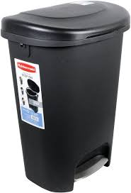 under kitchen cabinet double pull out trash can with lid 30l 8 gal