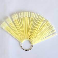 50 tips false nail tips transparent natrual plastic display tool