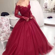 wedding dress maroon sheer scoop neckline sleeves burgundy gowns wedding