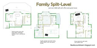 split level floor plans split floor plan home house plan our mid century split level house