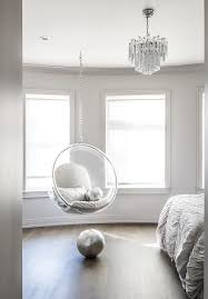 bedroom hanging chair bedroom with acrylic bubble hanging chair contemporary bedroom