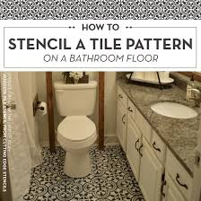 bathroom stencil ideas how to stencil a tile pattern on a bathroom floor stencil stories