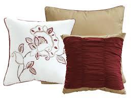 piece adabelle burgundy white taupe comforter set