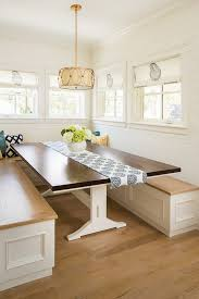 White Breakfast Nook Table Colors White Brown Combo Breakfast Nook With White Oak