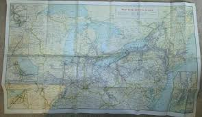 New York Central Railroad Map by Railroad Antique Price Guide