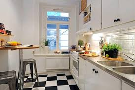 kitchen tidy ideas and tidy small kitchen design idea with checkered floor