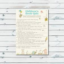 baby shower book theme childrens book quiz printable storybook baby shower