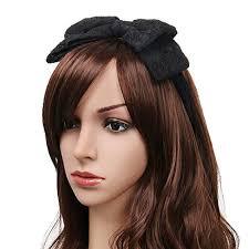 lace headband 80 s women lace headband with satin bow hair