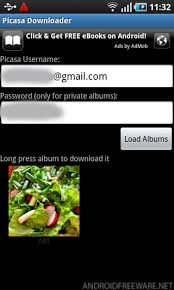 picasa android picasa downloader free android app android freeware