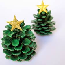 pinecone christmas tree craft candy cane trees ornament with pine