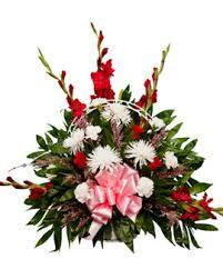 funeral floral arrangements basket floral arrangement 2 memorial pines cemetery