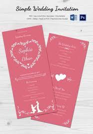 Cheap Wedding Programs Amazing Simple Wedding Invitation Cards Designs 64 On Wedding