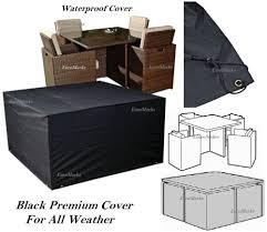 Waterproof Patio Furniture Covers - 160x160x75cm heavy duty waterproof outdoor garden cube rattan