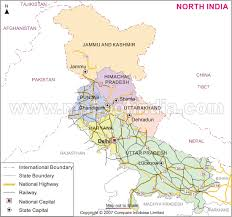 northern map india map