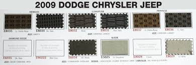 Upholstery Car Repair Dodge Chrysler Jeep Interior Auto Repair Kit Swatches Interior