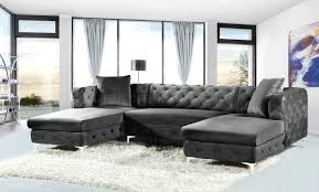 Grey Velvet Sectional Sofa Black Velvet Bosli Club