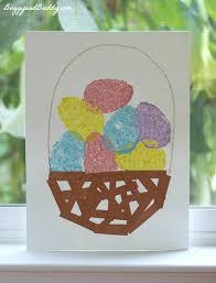 painted easter baskets easter crafts for kids sponge painted easter egg basket buggy