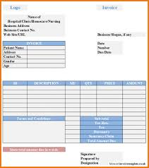 invoice template free free sample medical bill invoice template