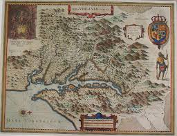 Williamsburg Virginia Map by Antique Maps Black Dog Gallery