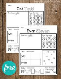 odd and even activity sheets the stem laboratory