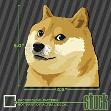 Doge Car Meme - com doge head such wow 4 6 x 5 printed die cut vinyl