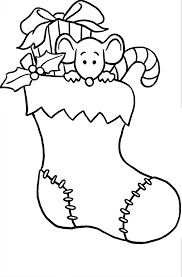 christmas stocking coloring pages getcoloringpages