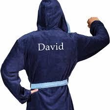 robe de chambre homme personnalisé peignoir de bain homme personnalisé poppy bleu marine