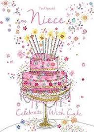 to a special niece cake u0026 sparkling candles design modern happy